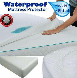 🚚 Queen Size, Fitted Mattress Protector, 100% Waterproof