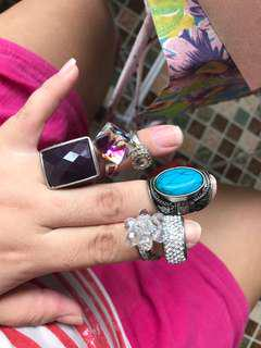 Lot of fashionable RINGS