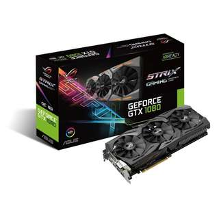 🚚 Asus ROG Strix GeForce® GTX 1080 OC edition 8GB (ROG STRIX-GTX1080-O8G-GAMING)