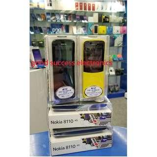 Nokia 8110 4G (黑色$620) (黃色$700) 香蕉仔手機復刻版 雙卡雙待 傳統按鍵手機 香港行貨 原廠一年保養