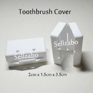 Toothbrush Casings : White Colours Oral Toothbrushes Teeth Tooth Brush Brushes Cases Covers Holders Travel Use Travelling Sellzabo