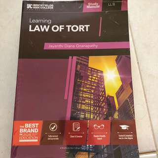 Tort Law Study Manual