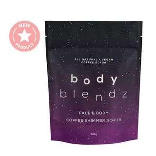 🚚 $20.90 BODYBLENDZ Coffee Shimmer Scrub - Face & Body