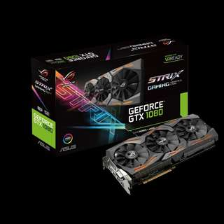 🚚 Asus ROG Strix GeForce® GTX 1080 8GB GDDR5X (ROG STRIX-GTX1080-8G-GAMING)