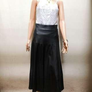 Pelle D'Oro Genuine Leather Vintage Long Full Skirt