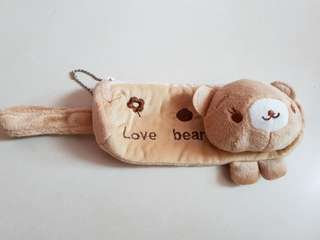 Brand New Brown Bear Pencil Case