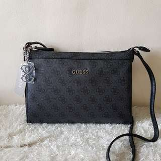 ON SALE: Authentic Guess Monogram Crossbody Sling Bag