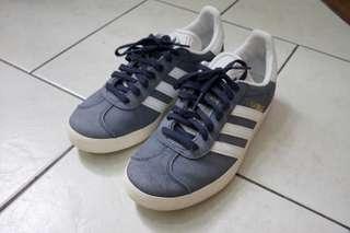 Adidas Originals Gazelle W Trace Blue White Suede Vintage