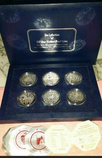 $10 Silver Piedfort Proof Coins (Whole Sets of 12)