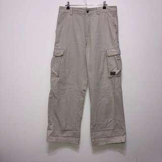 伏見古著 Timberland 杏色大口袋工作褲 寬褲 vintage