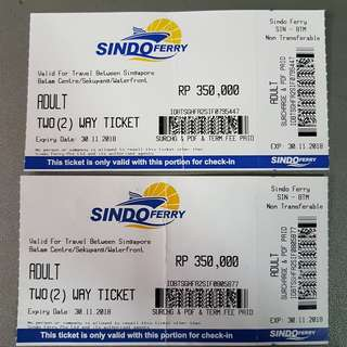 <1-Way ONLY> Sindo Ferry Ticket To Batam
