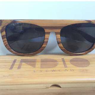 Unisex Wood Sunglasses by Indio