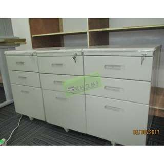Flush or Recessed Handle Mobile Pedestal-Office Furniture
