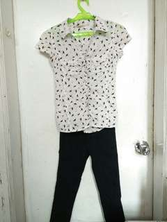 Set for sale! (blouse with pants)