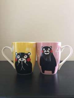 熊本熊骨瓷杯兩入