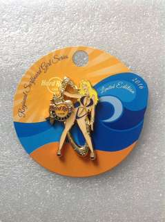 Hard Rock Cafe Pins - HAMBURG HOT 2016 REGIONAL SURFBOARD GIRL SERIES PIN!