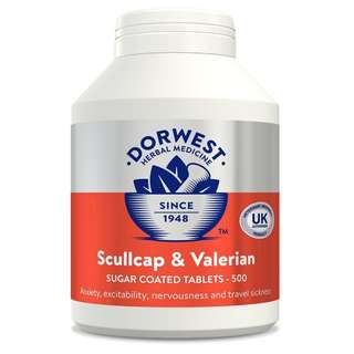 🚚 Scullcap & Valerian Tablets For Dogs And Cats 500 tabs