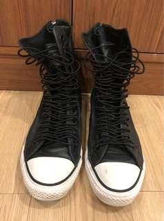 AUTHENTIC BLACK LEATHER CONVERSE