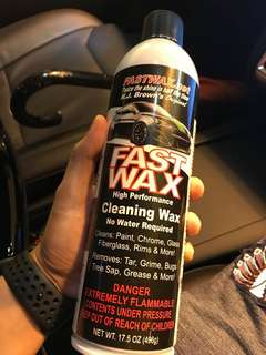 FAST WAX CLEANING WAX 汽車免水蠟