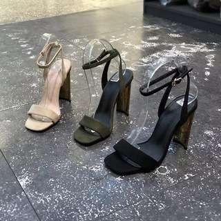 東大門  時尚絨面宴會跟鞋