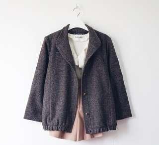 Brown Wool Winter Jacket