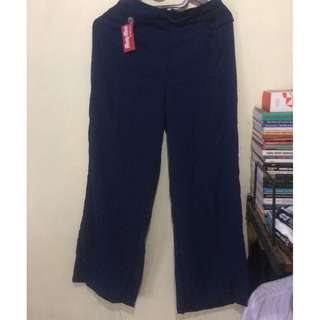 NEW/BARU Button Pants Navy Blue