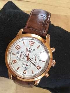 英國品牌Links of London Regent Chronograph Watch 真皮手錶