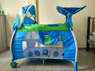 My Dear Calibro Playpen with Changing Station