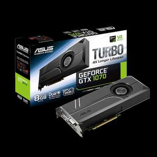 🚚 ASUS Turbo GeForce® GTX 1070 8GB GDDR5X (TURBO-GTX1070-O8G)