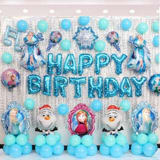 Happy birthday Balloons set / birthday decoration set / frozen minions kitty