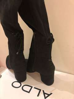 🚚 全新ALDO麂皮黑色長靴