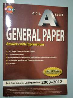 🚚 A Levels GP past year papers 2003- 2012