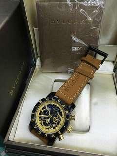 Bulgari Leather strap Authentic