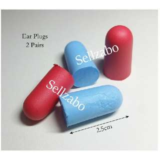 2 Pairs Prevent Noise Red Blue Colour Anti Sound Ears Plugs Sellzabo For Sleeping Block Noisy