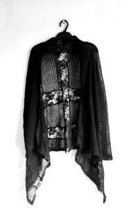 KOTON Black Lace Cardigan