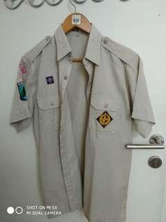 Baju seragam pramuka sma