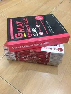 GMAT Official Guide 2018 + Prep 6th Edition vol. 1-10