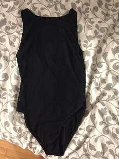 Black High Neck Bodysuit
