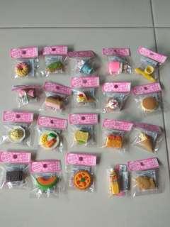 20 x Iwako erasers (food)