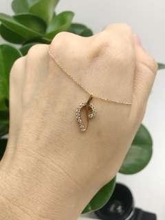Clearance!!!!18k rose gold pendant set