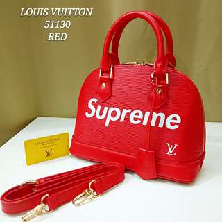 Louis Vuitton Alma BB Supreme Red