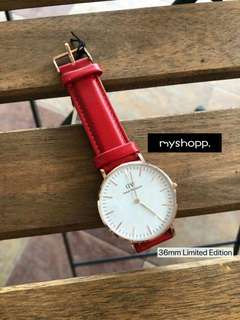 100% Original Daniel Wellington Classic Red Limited Edition