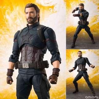 日版 Shf captain American infinity war 美國隊長 無限之戰