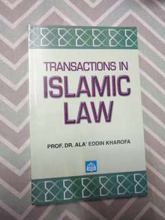Transactions in islamic law