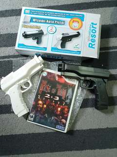 Wii game House of the Dead with double pistols