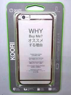 iPhone 6 plus 鍍金色硬手機殼 gold plated phone hard case
