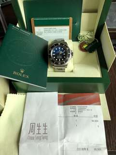 Rolex 勞力士Deep Sea Blue 116660 888 行貨有單