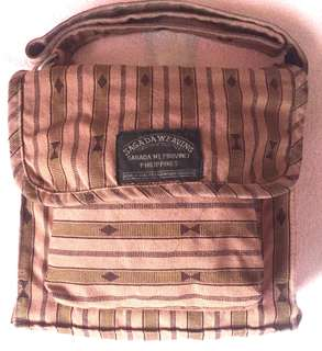 Brown Weaved Sagada Messenger Bag
