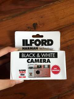 ILFORD disposable camera XP2 iso 400 black and white
