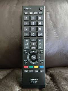 (80%new) Toshiba TV remote CT90407 原廠搖控